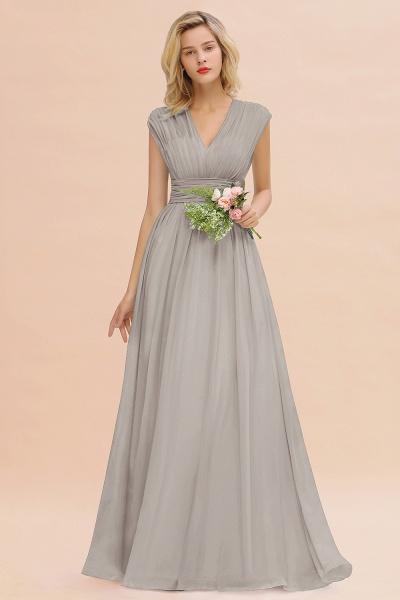 BM0774 Chiffon V-Neck Sleeveless Elegant A-line Ruffles Bridesmaid Dress_30