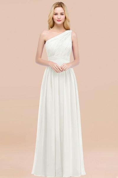 Elegant A-Line Chiffon One-Shoulder Sleeveless Ruffles Floor-Length Bridesmaid Dresses_2