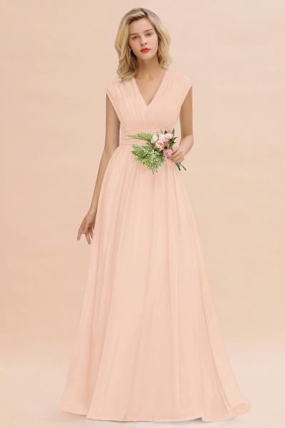 BM0774 Chiffon V-Neck Sleeveless Elegant A-line Ruffles Bridesmaid Dress_5
