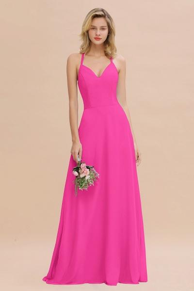 BM0779 Stylish Chiffon Spaghetti Straps Sleeveless Long Bridesmaid Dress_9
