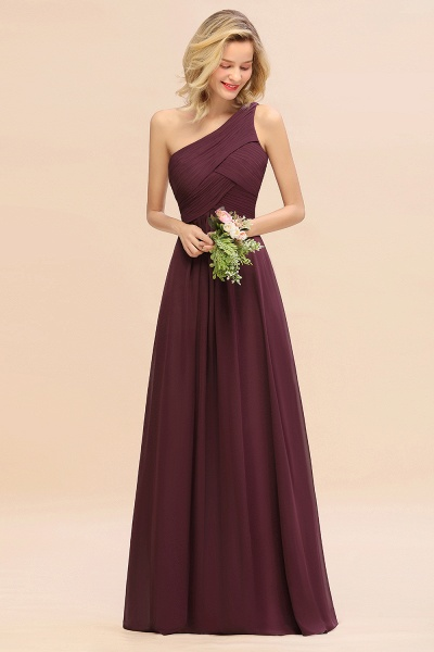 BM0756 Elegant Ruffles One Shoulder Long Bridesmaid Dress_47