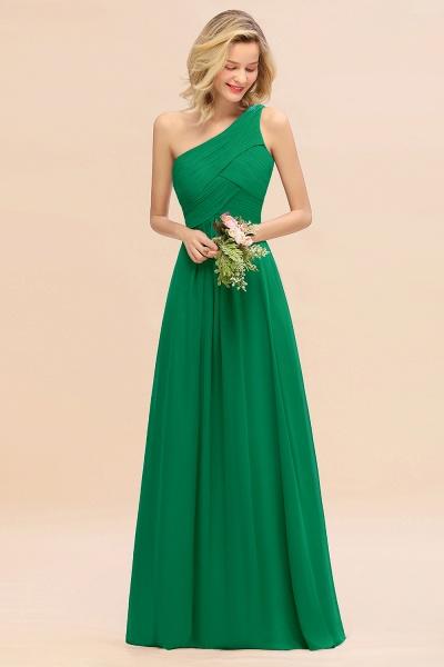 BM0756 Elegant Ruffles One Shoulder Long Bridesmaid Dress_49