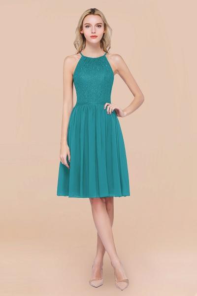 A-line Chiffon Lace Jewel Sleeveless Knee-Length Bridesmaid Dresses with Ruffles_32
