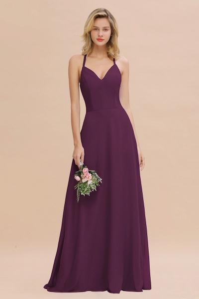 BM0779 Stylish Chiffon Spaghetti Straps Sleeveless Long Bridesmaid Dress_20