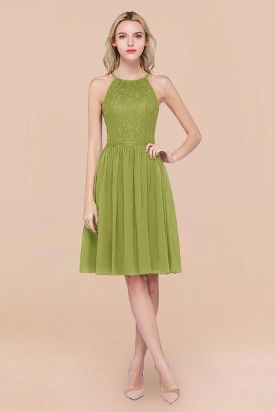 A-line Chiffon Lace Jewel Sleeveless Knee-Length Bridesmaid Dresses with Ruffles_34