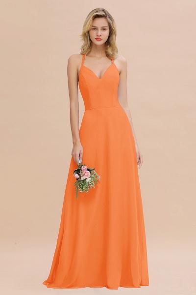 BM0779 Stylish Chiffon Spaghetti Straps Sleeveless Long Bridesmaid Dress_15