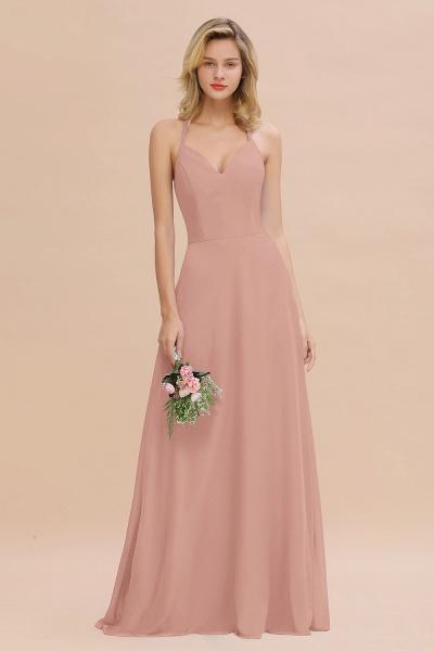 BM0779 Stylish Chiffon Spaghetti Straps Sleeveless Long Bridesmaid Dress_6