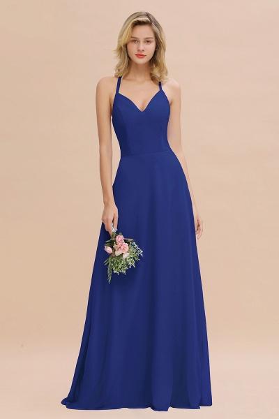 BM0779 Stylish Chiffon Spaghetti Straps Sleeveless Long Bridesmaid Dress_26
