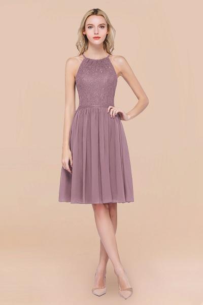 A-line Chiffon Lace Jewel Sleeveless Knee-Length Bridesmaid Dresses with Ruffles_43