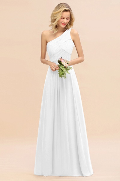 BM0756 Elegant Ruffles One Shoulder Long Bridesmaid Dress_1