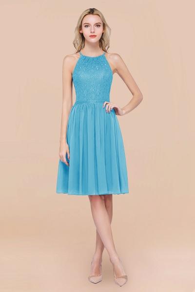 A-line Chiffon Lace Jewel Sleeveless Knee-Length Bridesmaid Dresses with Ruffles_24