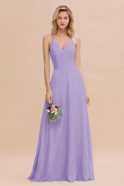 BM0779 Stylish Chiffon Spaghetti Straps Sleeveless Long Bridesmaid Dress_21