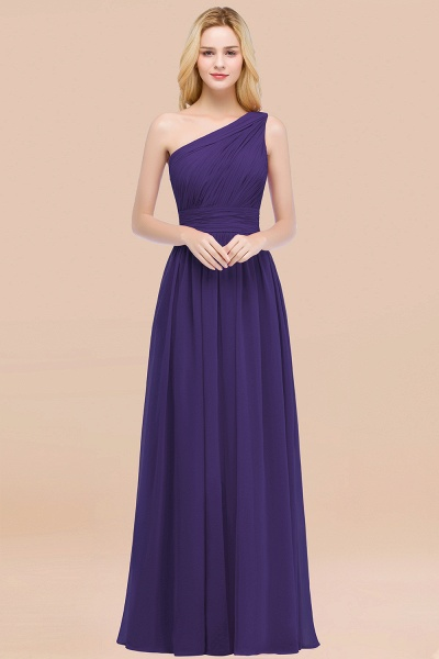Elegant A-Line Chiffon One-Shoulder Sleeveless Ruffles Floor-Length Bridesmaid Dresses_19