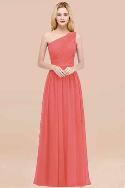 Elegant A-Line Chiffon One-Shoulder Sleeveless Ruffles Floor-Length Bridesmaid Dresses_7