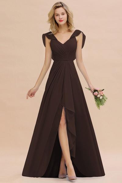 BM0777 Simple Hi-Lo V-Neck Ruffles Long Bridesmaid Dress_11