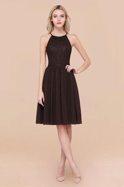 A-line Chiffon Lace Jewel Sleeveless Knee-Length Bridesmaid Dresses with Ruffles_11