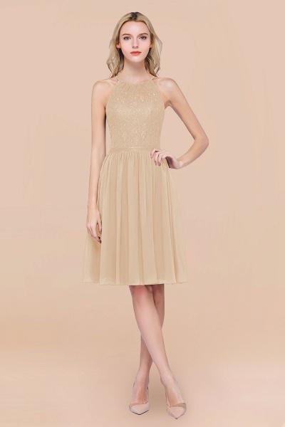 A-line Chiffon Lace Jewel Sleeveless Knee-Length Bridesmaid Dresses with Ruffles_14