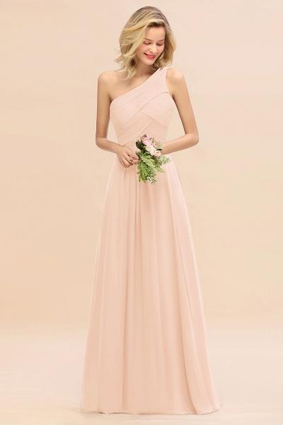 BM0756 Elegant Ruffles One Shoulder Long Bridesmaid Dress_5