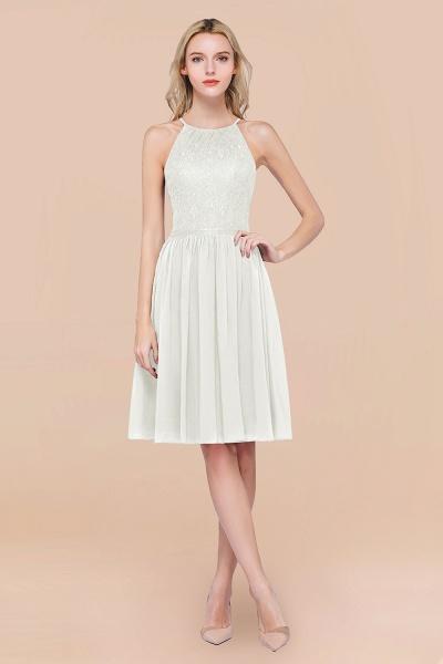 A-line Chiffon Lace Jewel Sleeveless Knee-Length Bridesmaid Dresses with Ruffles_2