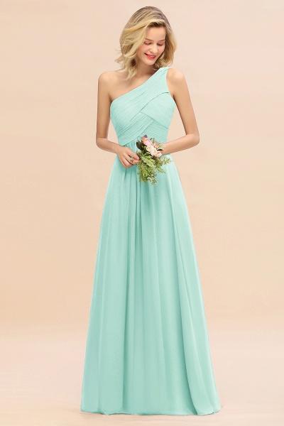 BM0756 Elegant Ruffles One Shoulder Long Bridesmaid Dress_36