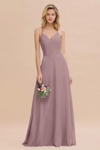 BM0779 Stylish Chiffon Spaghetti Straps Sleeveless Long Bridesmaid Dress_37