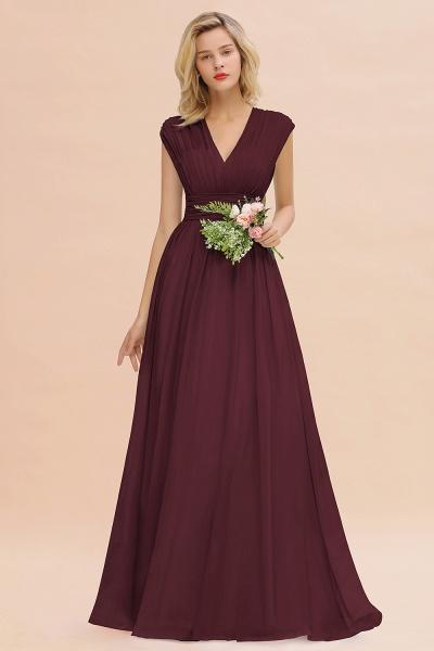 BM0774 Chiffon V-Neck Sleeveless Elegant A-line Ruffles Bridesmaid Dress_47