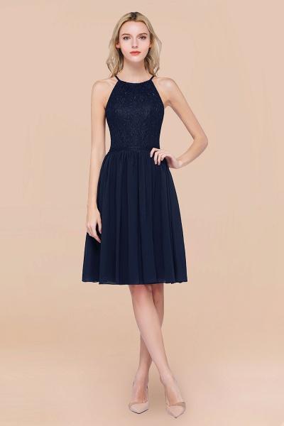 A-line Chiffon Lace Jewel Sleeveless Knee-Length Bridesmaid Dresses with Ruffles_28