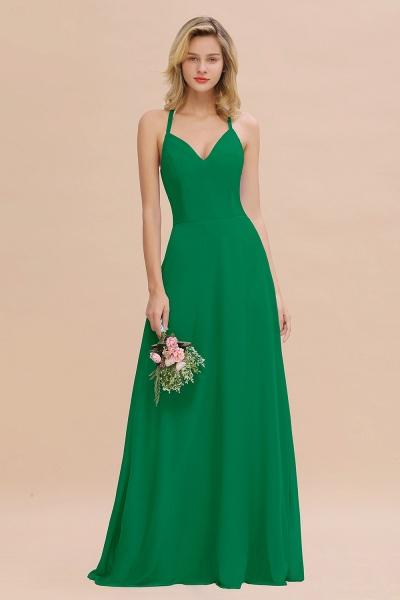 BM0779 Stylish Chiffon Spaghetti Straps Sleeveless Long Bridesmaid Dress_49