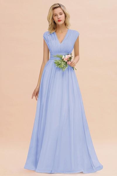 BM0774 Chiffon V-Neck Sleeveless Elegant A-line Ruffles Bridesmaid Dress_22