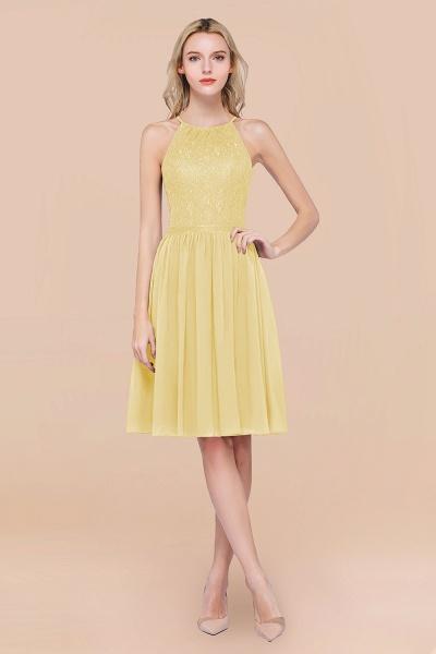 A-line Chiffon Lace Jewel Sleeveless Knee-Length Bridesmaid Dresses with Ruffles_18