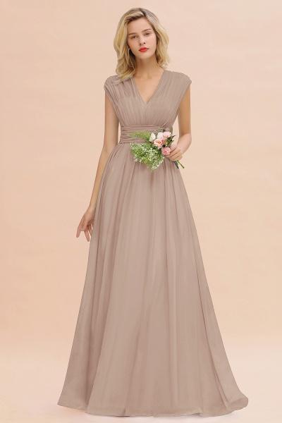 BM0774 Chiffon V-Neck Sleeveless Elegant A-line Ruffles Bridesmaid Dress_16