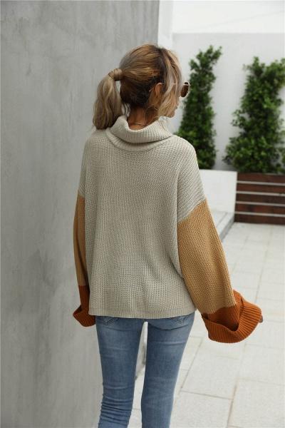 Sd1901 Black Black Turtleneck Sweater For Women_2