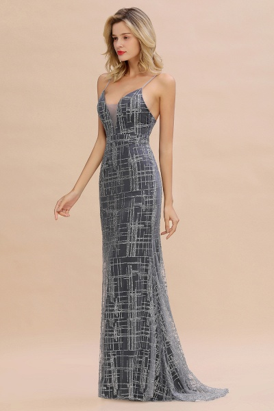 Elegant Mermaid Sleeveless Long Evening Dress_11