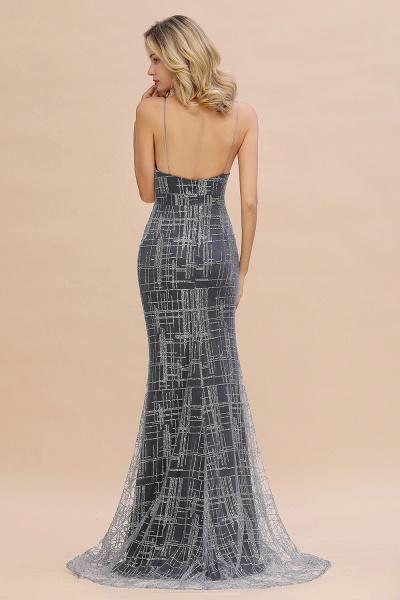 Elegant Mermaid Sleeveless Long Evening Dress_7
