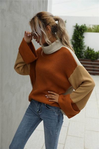 Sd1901 Black Black Turtleneck Sweater For Women_4