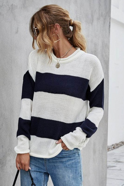 SD1900 Long Sleeve Knitted Sweater_2
