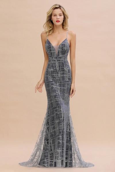 Elegant Mermaid Sleeveless Long Evening Dress_1