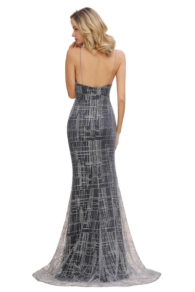 Elegant Mermaid Sleeveless Long Evening Dress_9
