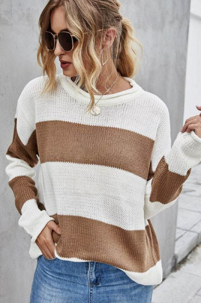 SD1900 Long Sleeve Knitted Sweater_1