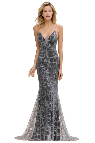 Elegant Mermaid Sleeveless Long Evening Dress_3