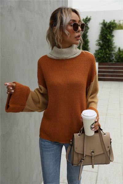 Sd1901 Black Black Turtleneck Sweater For Women_3