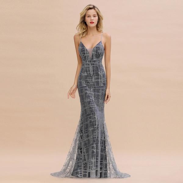 Elegant Mermaid Sleeveless Long Evening Dress_2