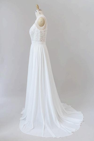 SD1960 Straps Lace A-line Boho Wedding Dress_3