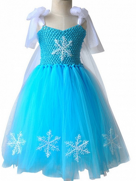 Princess Maxi Pageant Flower Girl Dresses - Polyester Sleeveless Jewel Neck With Bow(S) / Color Block_2