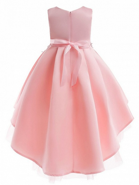 Ball Gown Ankle Length Pageant Flower Girl Dresses - Polyester Sleeveless Jewel Neck With Appliques_5