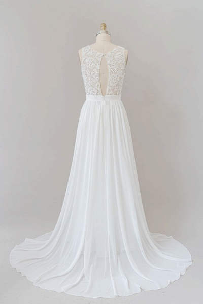 SD1960 Straps Lace A-line Boho Wedding Dress_7