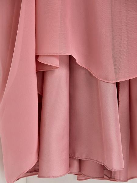 A-Line Halter Neck Maxi Chiffon Junior Bridesmaid Dress With Beading / Ruching_7