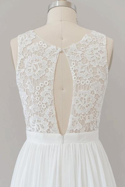 SD1960 Straps Lace A-line Boho Wedding Dress_4