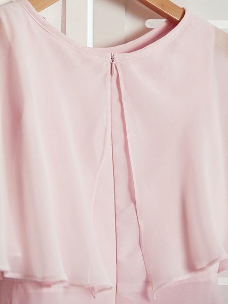 A-Line Jewel Neck Maxi Chiffon Junior Bridesmaid Dress With Ruffles_5
