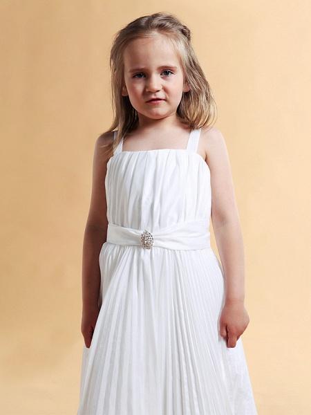 A-Line Square Floor-Length Taffeta Flower Girl Dress_3